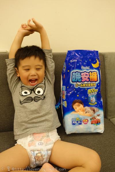 【兒物】滿意寶寶晚安褲,500cc超強吸收,不用再擔心夜晚泡在尿裡XD