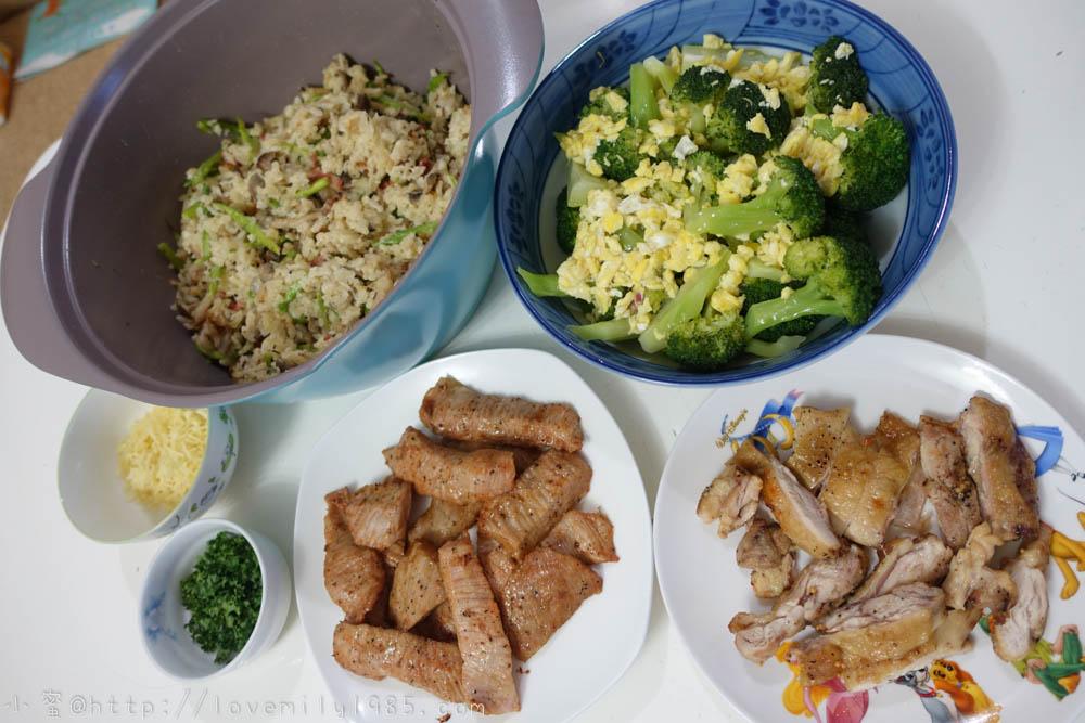 【廚房菜鳥。第一次煮飯就上手】胡搞瞎搞的義大利黑松露野菇燉飯.花椰菜混蛋.烤雞腿.烤松阪豬~食譜+實作