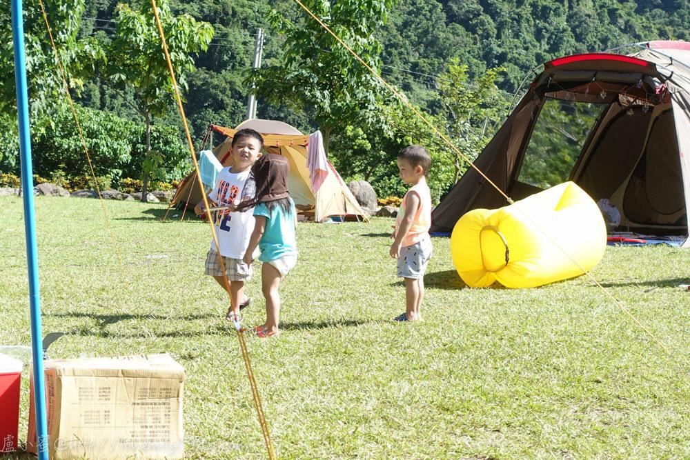 【露營】完全自食其力的第二露,南澳那山那谷營地 Day3 收帳收到中暑….全部大人自動調為慢動作模式,但小孩依舊行動自如翻天