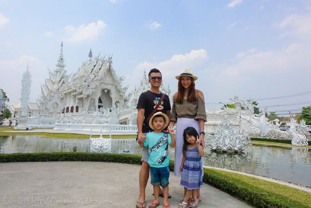 【泰國。清邁】超親近動物的親子自由行 Day4-1 包車清萊一日遊。必走景點~白廟。Wat Rong Khun