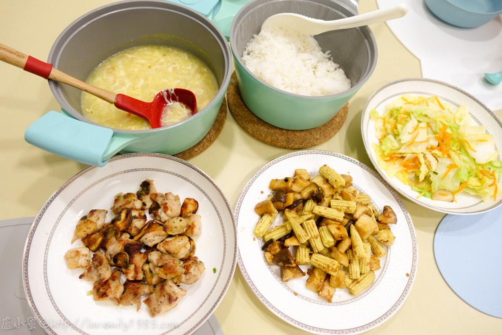 【廚房菜鳥。第一次煮飯就上手】超簡單「乾煎蒜片雞腿排」&超下飯「醬燒奶油杏鮑菇玉米筍」,備料超簡單,煮的也快!食譜+實作