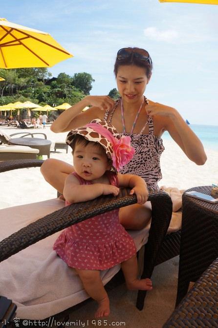 蜜29生日。一家四口四訪長灘 Day3-2 香格里拉飯店【看海躺椅躺躺。游泳】→ARIA pizza